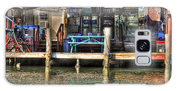 Galaxy Case featuring the photograph Bait Ice  Beer Shop On Bay by Dan Friend