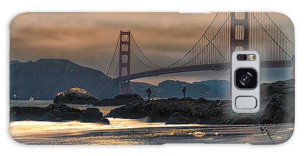 Baker Beach Golden Gate Galaxy Case