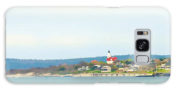 Bakers Island Lighthouse Galaxy Case by Michelle Wiarda