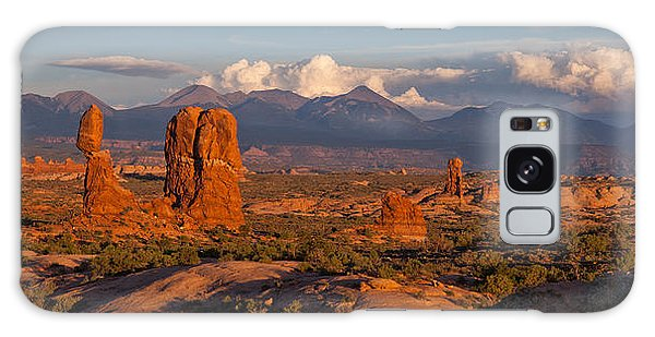 Balanced Rock And Summer Clouds At Sunset Galaxy Case