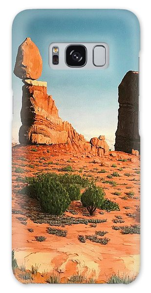 Balanced Rock At Arches National Park Galaxy Case