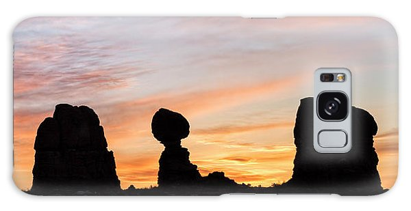 Balanced Rock At Sunrise Galaxy Case