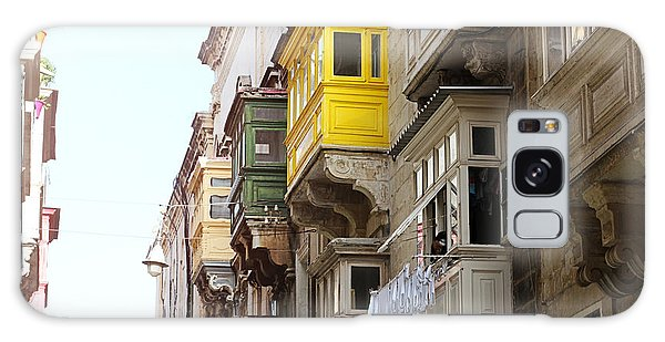 Balconies Of Valletta 1 Galaxy Case
