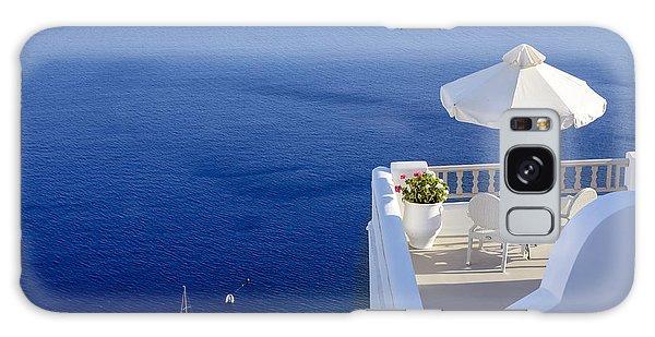 Balcony Over The Sea Galaxy Case