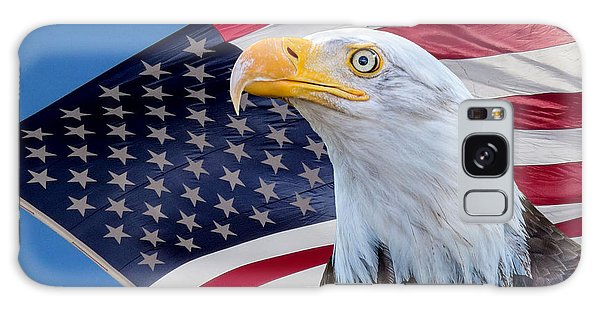 Bald Eagle And American Flag Galaxy Case