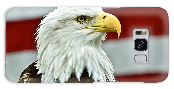 Bald Eagle And Old Glory Galaxy Case