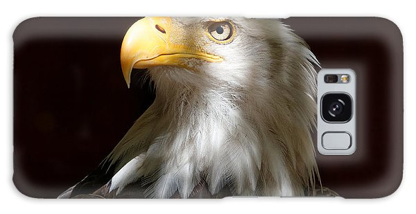 Bald Eagle Closeup Portrait Galaxy Case