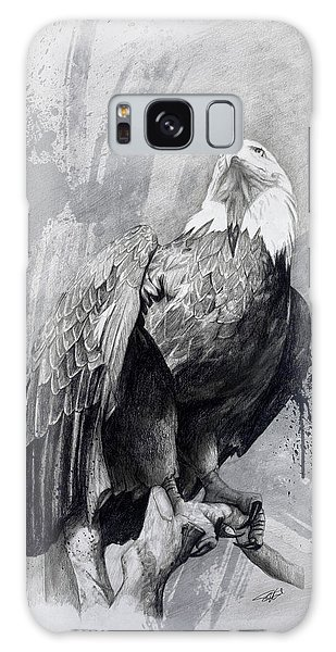 Bald Eagle Drawing Galaxy Case