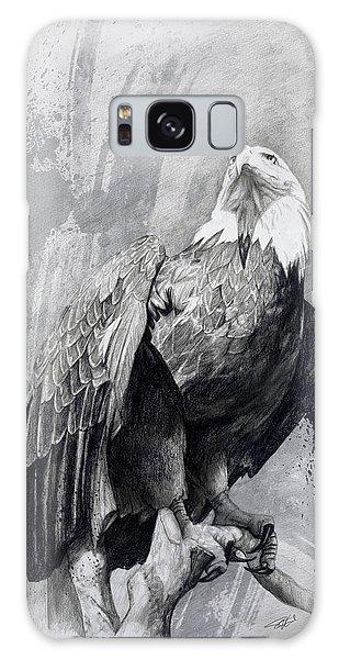 Bald Eagle Drawing Galaxy Case