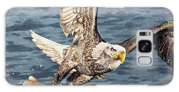 Hyper-realistic Galaxy Case - Bald Eagle Fishing  by Aaron Spong