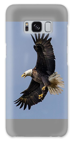 Bald Eagle Flyer Galaxy Case by Phil Stone