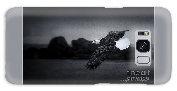 Bald Eagle In Flight Galaxy Case by John A Rodriguez
