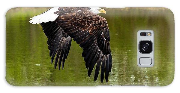 Bald Eagle Over A Pond Galaxy Case