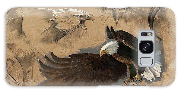 Bald Eagle Study Sheet Galaxy Case