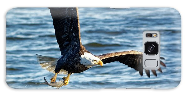 Bald Eagle With Fish Galaxy Case