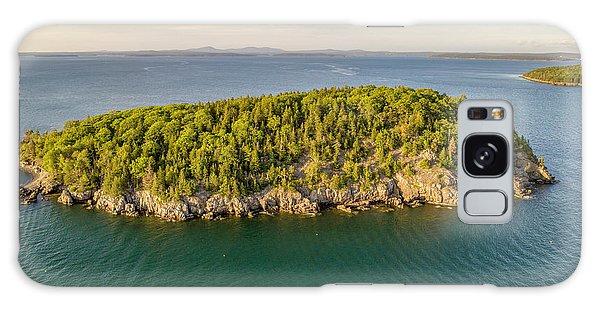 Bald Pocupine Island, Bar Harbor Galaxy Case