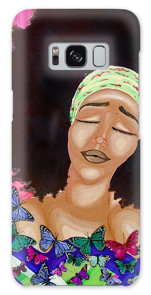 Galaxy Case featuring the painting Balinda by Aliya Michelle