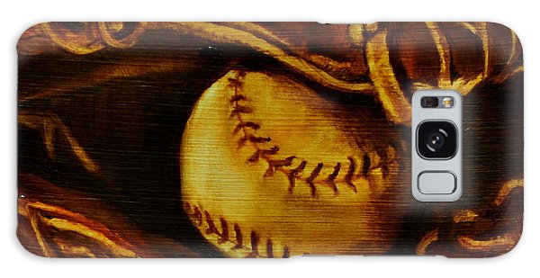 Ball In Glove 2 Galaxy Case by Lindsay Frost