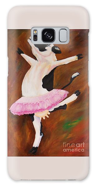 Ballerina Cow Galaxy Case