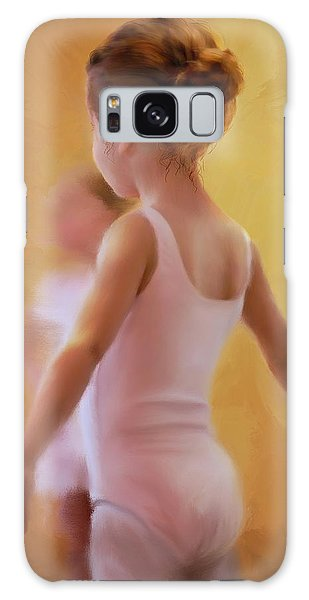 Ballerina In Pink Galaxy Case by Colleen Taylor