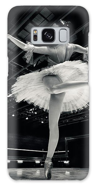 Galaxy Case featuring the photograph Ballerina In The White Tutu by Dimitar Hristov