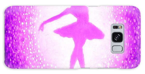 Galaxy Case featuring the painting Ballerina Purple And Pink by Bob Baker