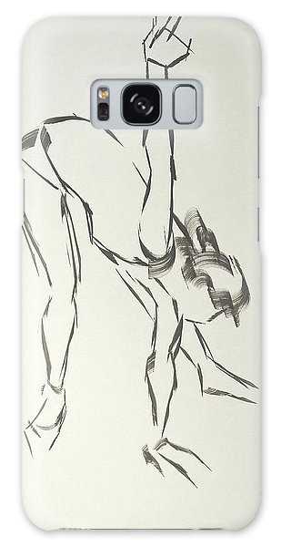 Ballet Dancer Bending And Stretching Galaxy Case