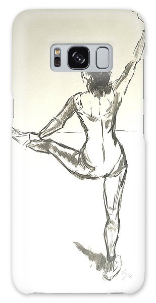 Ballet Dancer With Left Leg On Bar Galaxy Case