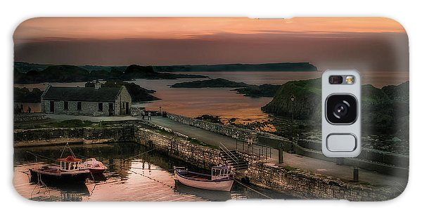 Ballintoy Harbour Sunset Galaxy Case