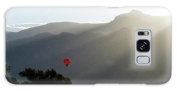 Balloon At Sunrise Galaxy Case