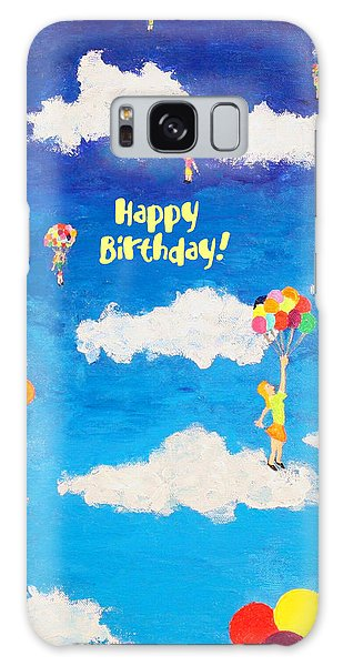 Balloon Girls Birthday Greeting Card Galaxy Case