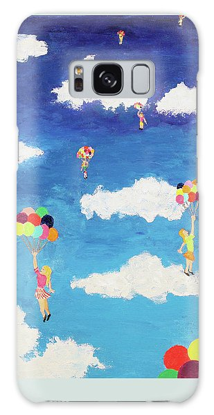 Balloon Girls Galaxy Case by Thomas Blood