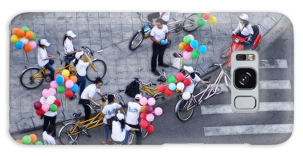 Balloons And Bikes Galaxy Case