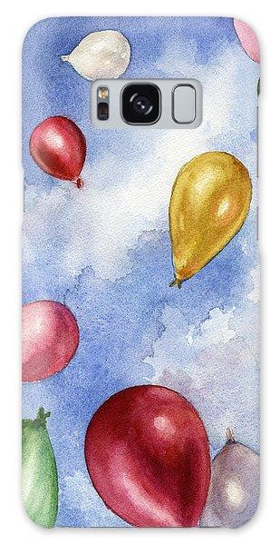 Balloons In Flight Galaxy Case