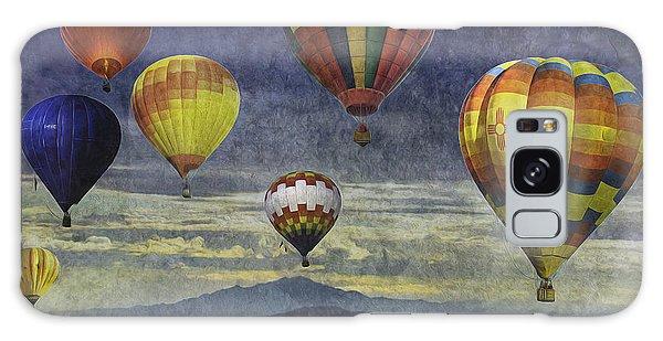 Balloons Over Sister Mountains Galaxy Case