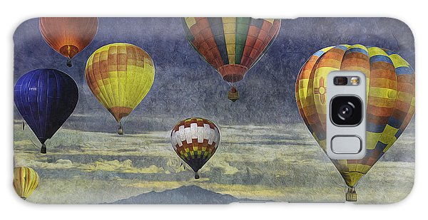 Balloons Over Sister Mountains Galaxy Case