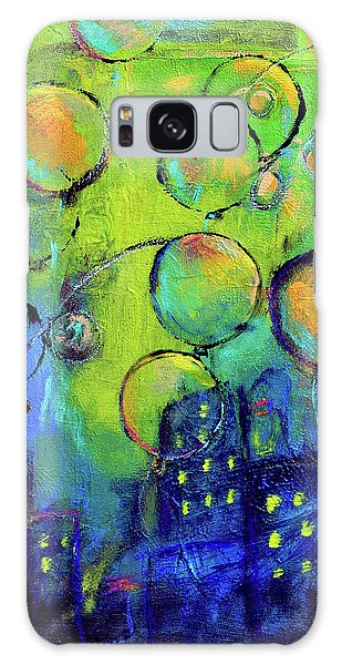 Cheerful Balloons Over City Galaxy Case