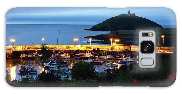 Ballycotton Ireland Marina Harbour And Lighthouse East County Cork Galaxy Case