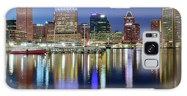Baltimore Blue Hour Galaxy Case by Frozen in Time Fine Art Photography