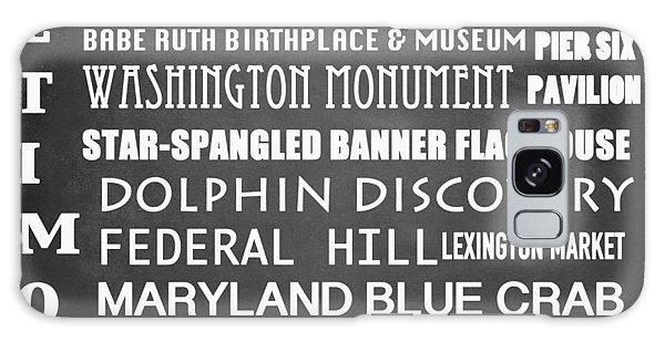 Baltimore Famous Landmarks Galaxy Case