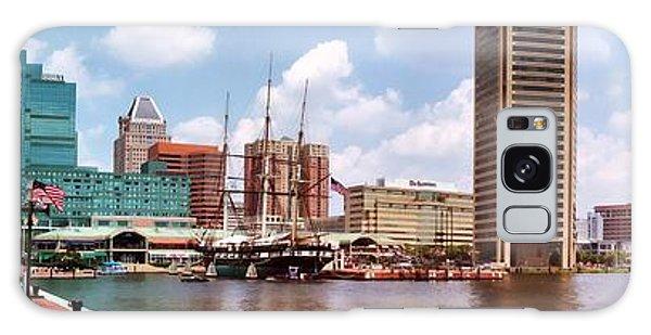 Baltimore Harbor Panorama Galaxy Case