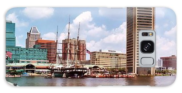 Baltimore Harbor Panorama Galaxy Case