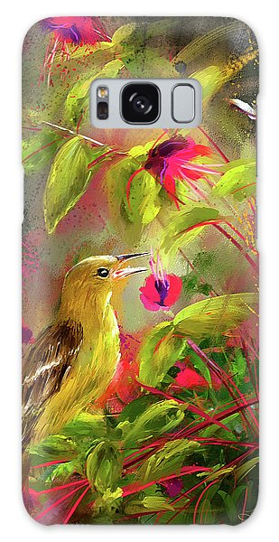Baltimore Oriole Art- Baltimore Female Oriole Art Galaxy Case