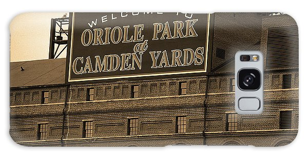 Baltimore Orioles Park At Camden Yards Sepia Galaxy Case