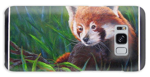 Bamboo Basking--red Panda Galaxy Case by Mary McCullah