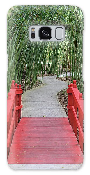 Bamboo Path Through A Red Bridge Galaxy Case