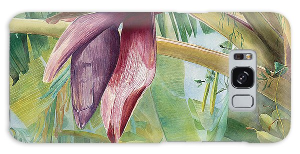 Banana Flower Galaxy Case