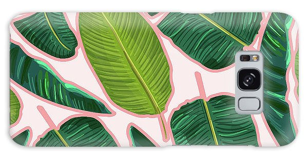 Banana Leaf Blush Galaxy Case