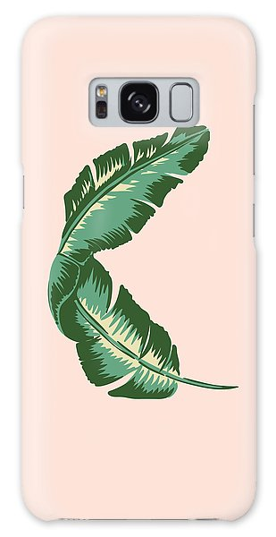 Lives Galaxy Case - Banana Leaf Square Print by Lauren Amelia Hughes