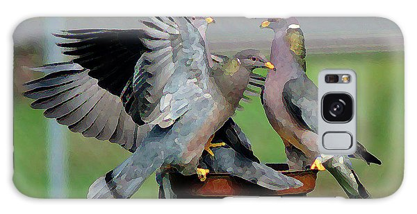 Band-tailed Pigeons #1 Galaxy Case